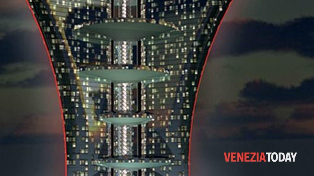 Risultati immagini per il grattacielo di pierre cardin paris lumière a venezia immagini?