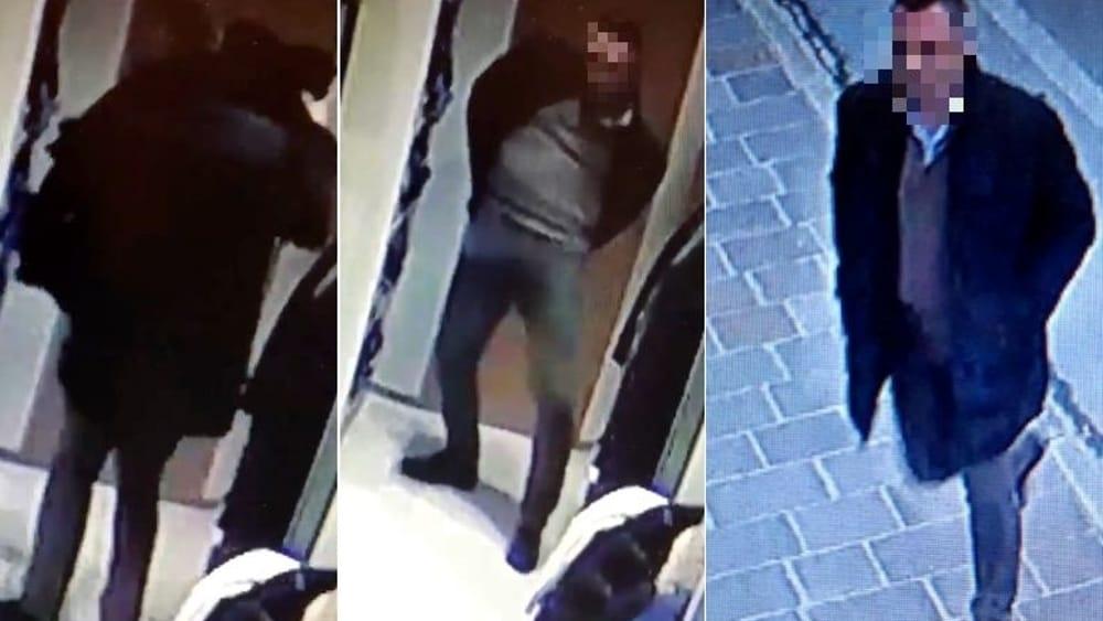 Nasconde il cappotto sulla schiena e esce indisturbato  il video del furto  su Facebook 4ae65c43f561