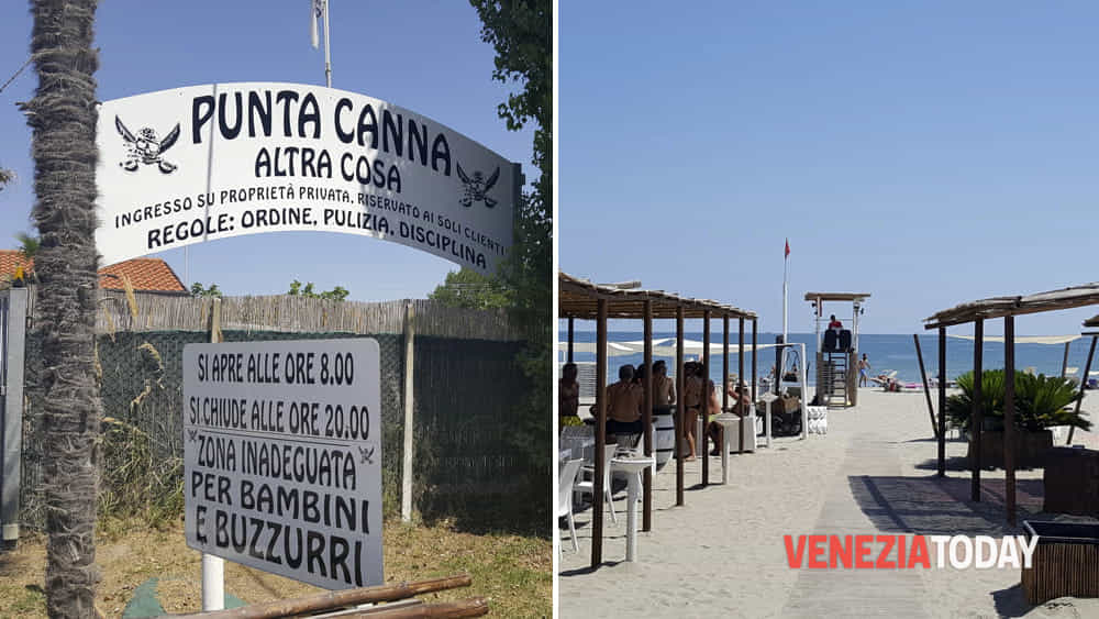 Spiaggia di punta canna a chioggia ordine del prefetto di rimuovere i riferimenti al fascismo - Bagno punta canna sottomarina ...